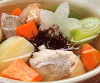 Photograph:Sampei soup of cod